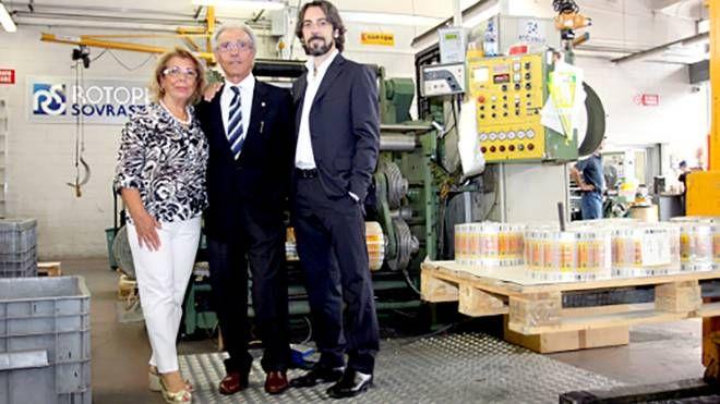 La famiglia Arici: Felicita, Gian Carlo e il figlio Giovanni Luca