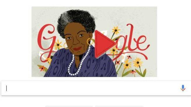 Maya Angelou nel doodle di Google