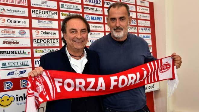 Il presidente Stefano Fabbri con il ds Sandro Cangini