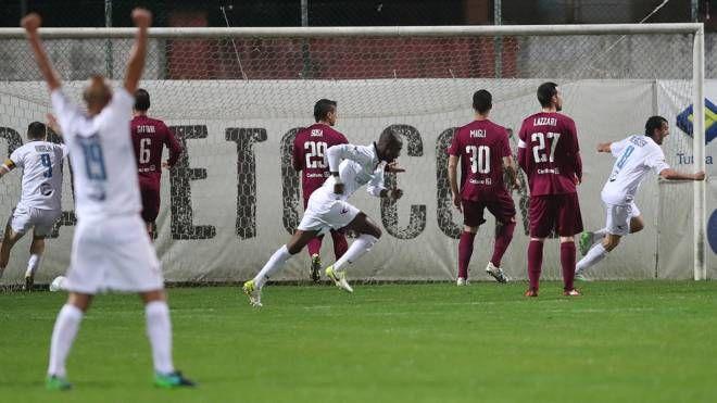 Il gol della vittoria del Gubbio (FotoPrint)