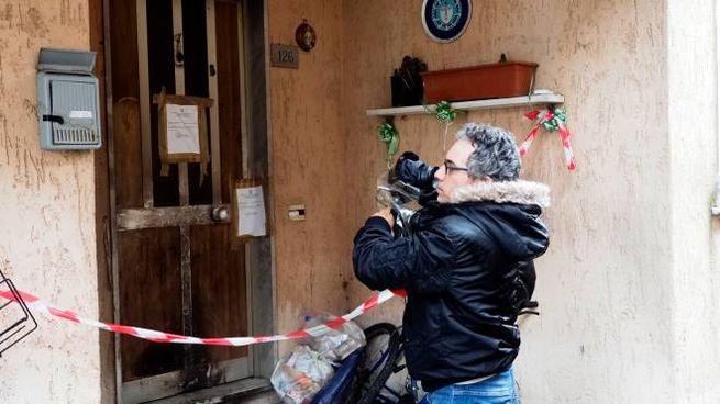 La casa della tragedia (Foto Pasquali)