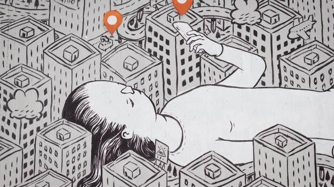 Un'opera dello street artist Millo