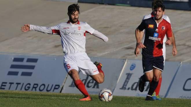Stefano Selvatico, centrocampista biancorosso decisivo nella trasferta reggiana
