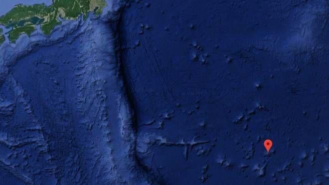 L'area al largo del Giappone dove è stato scoperta il giacimento (Google Maps)