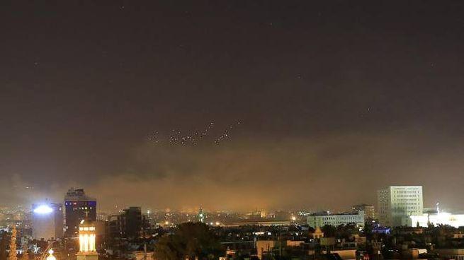 Siria, attacco Usa sulla capitale Damasco (Ansa)