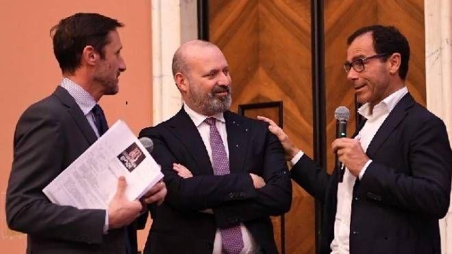 Davide Cassani con Stefano Bonaccini