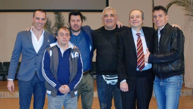 Cassina, Damiani e Maenza con il sindaco, l'assessore e il presentatore