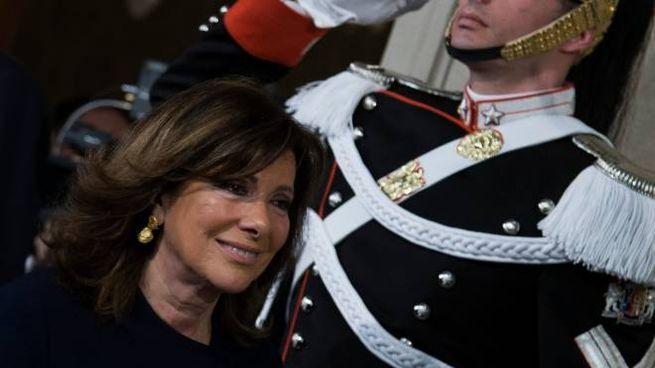 Governo, Elisabetta Casellati esce dopo il colloquio con Mattarella (Lapresse)