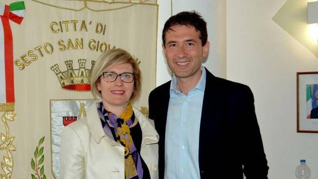 Roberta Pizzocchera con il sindaco Roberto Di Stefano