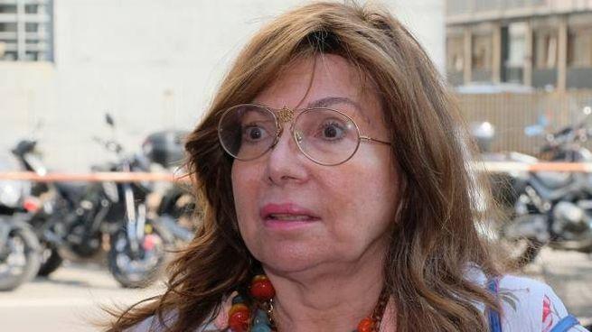 Patrizia Reggiani fuori dall'aula