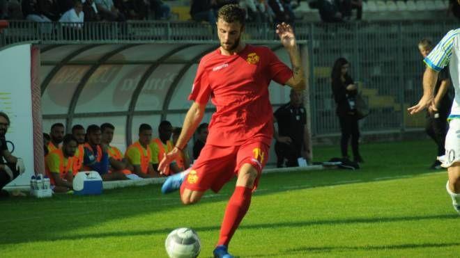 Andrea Magrini autore del gol del vantaggio