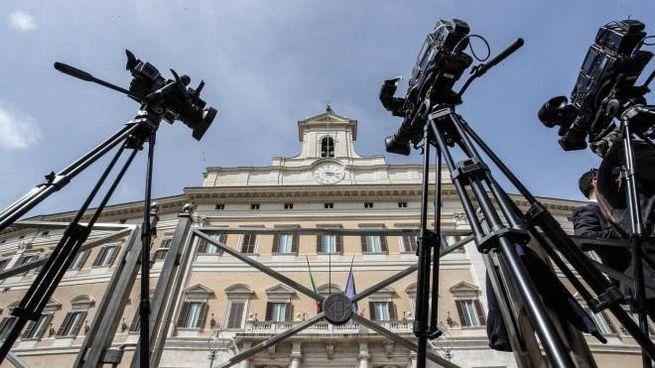 Esterno di Palazzo Montecitorio (Ansa)