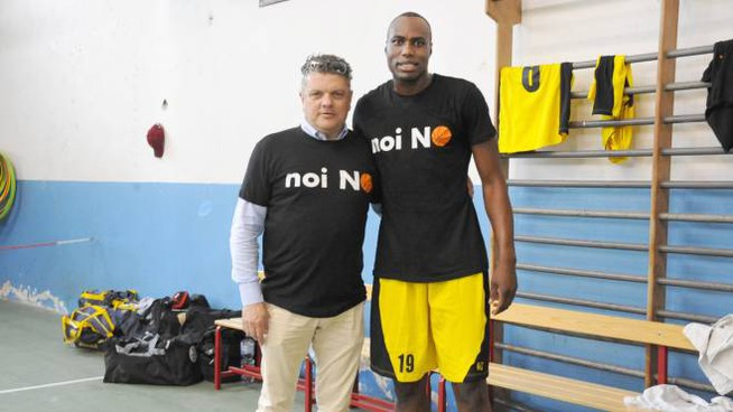Alberto Bellondi con Jo Kisonga