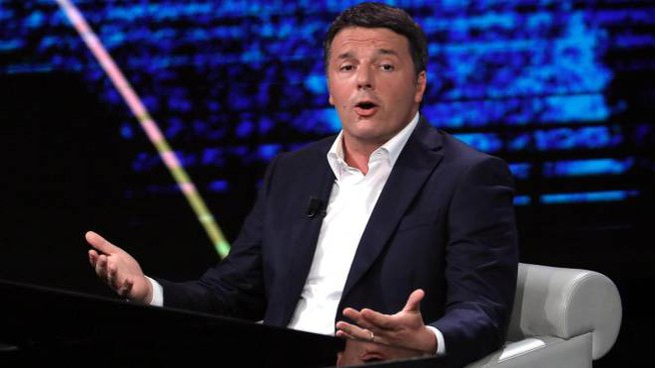 Matteo Renzi ospite di 'Che tempo che fa' (Ansa)
