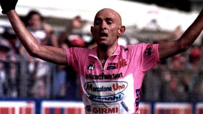 Il campione Marco Pantani