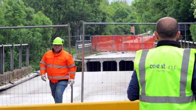 I lavori sul ponte