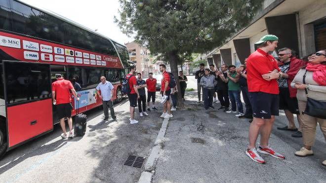 La partenza della squadra (FotoPrint)
