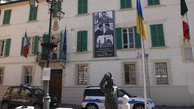 Il municipio di Brescello