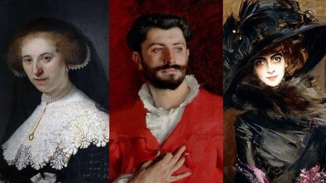 Rembrandt  'Oopjen Coppit' (1634);  Sargent 'Dr.Pozzi' (1881), Boldini 'Casati' (1908)