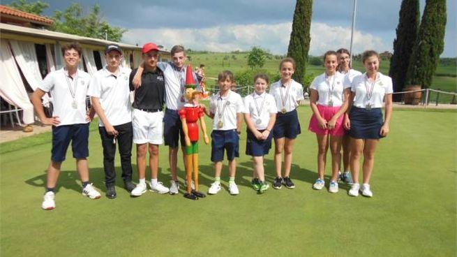 I premiati del Pinocchio sul Green disputato al Golf Club Bellosguardo di Vinci