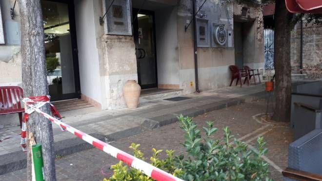 Il luogo della prima sparatoria nel Vibonese (LaPresse)
