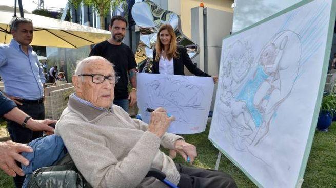 Giorgio Michetti, 106 anni (foto Umicini)