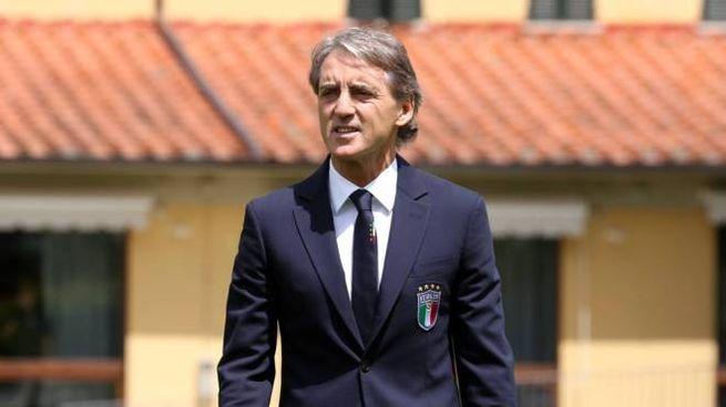 Roberto Mancini a Coverciano (Fotocronache Germogli)