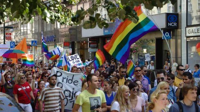 Una manifestazione per i diritti omosessuali
