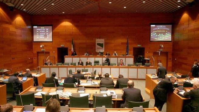 La sala del consiglio regionale dell'Emilia-Romagna (FotoSchicchi)