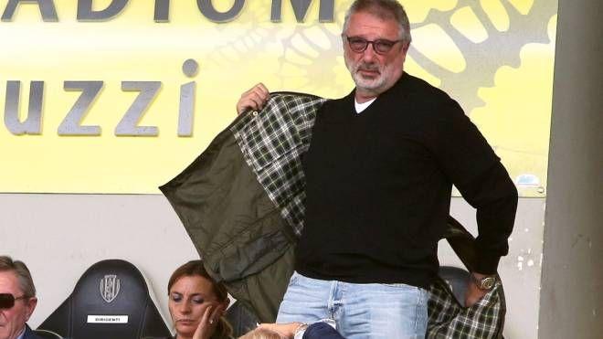 Giorgio Lugaresi in tribuna all'Orogel Stadium-Manuzzi
