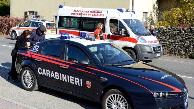 Carabinieri e soccorritori