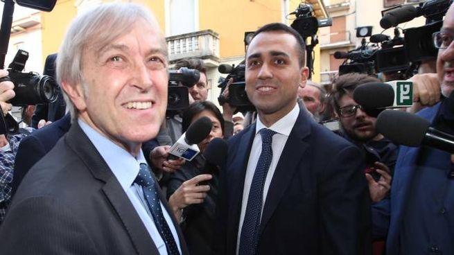 Sergio Bramini con Luigi Di Maio (Ansa)