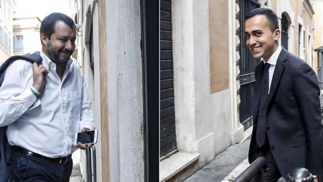 Salvini e Di Maio (Ansa)