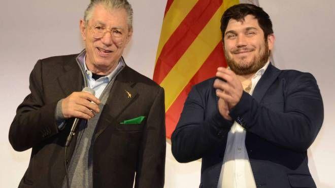 Il consigliere Fabio Benetti con Umberto Bossi