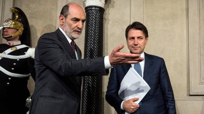 Governo, Giuseppe Conte al Quirinale (Lapresse)