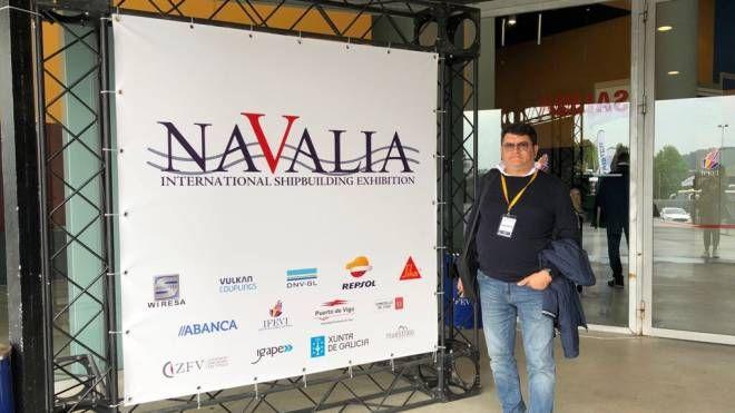 """Aziende della Cna in trasferta alla fiera nautica """"Navalia """" in Spagna (Foto Andolfi)"""