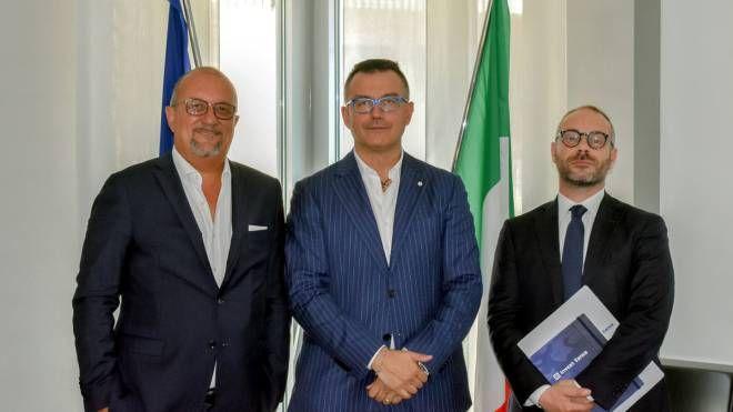 Da sinistra Lorenzo Riva, Marco Corti e Matteo Pontello