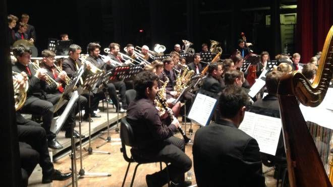 L'orchestra di fiati del Conservatorio
