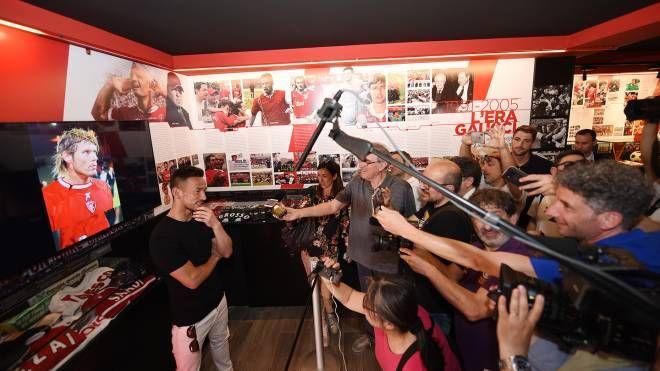 Perugia, Nakata incontra la stampa (Crocchioni)