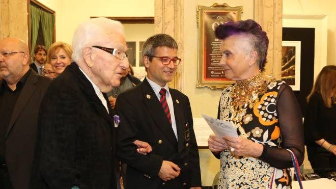 Marino Golinelli con la moglie Paola alla prima del Don Carlo al Comunale (Foto Schicchi)
