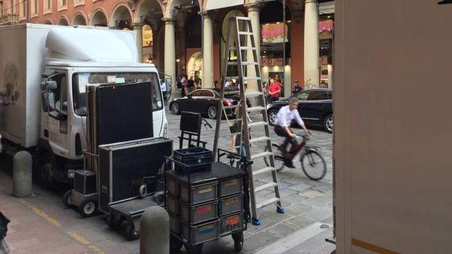 Gomorra, altre riprese a Bologna (foto Zanini)