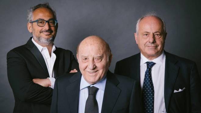 Francesco Amadori (al centro) con Denis e Flavio