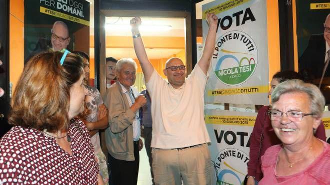 Nicola Tesi felice per l'esito del voto (foto Goiorani)