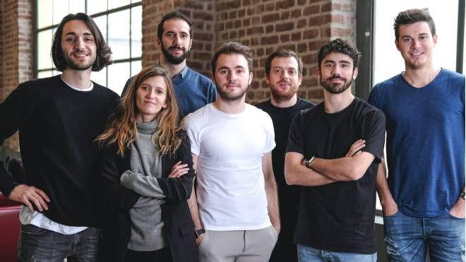 Il team di Nibol, al centro Riccardo Suardi, fondatore e ideatore dell'app