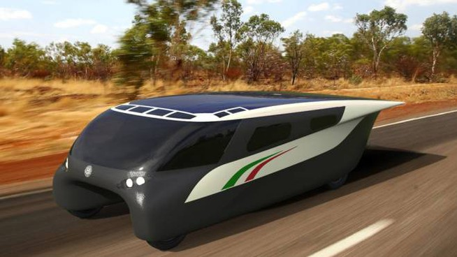 Emilia 4, il veicolo a energia solare presentato questa mattina