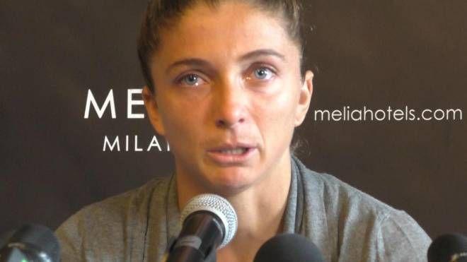 La tennista Sara Errani in lacrime