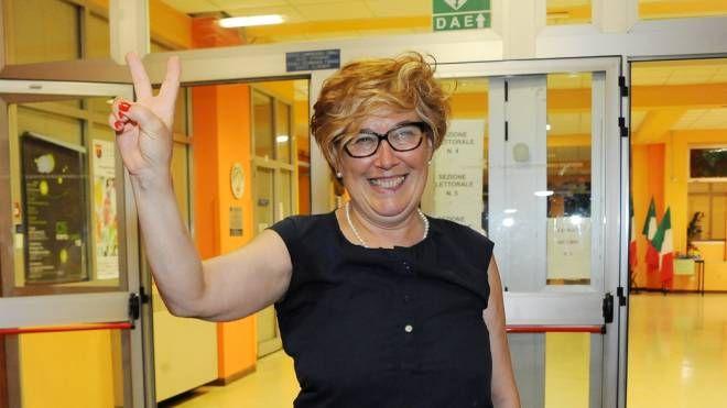 Giuseppina Berra festeggia la vittoria