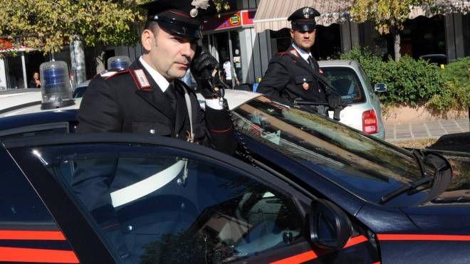 Una pattuglia dei carabinieri in servizio