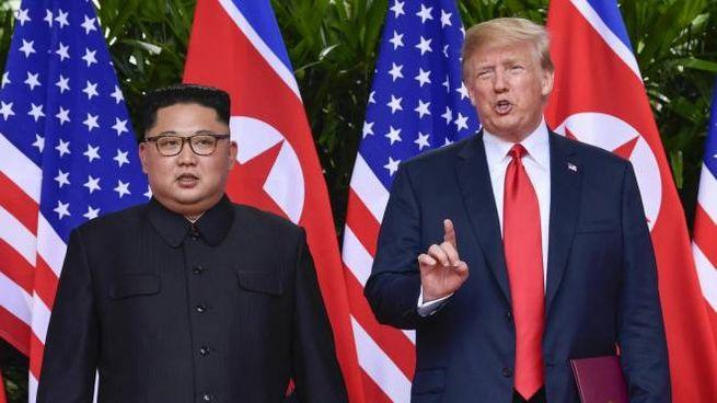 Kim Jong-un e Donald Trump (Ansa)