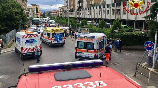 La scena dell'incidente in via Massa